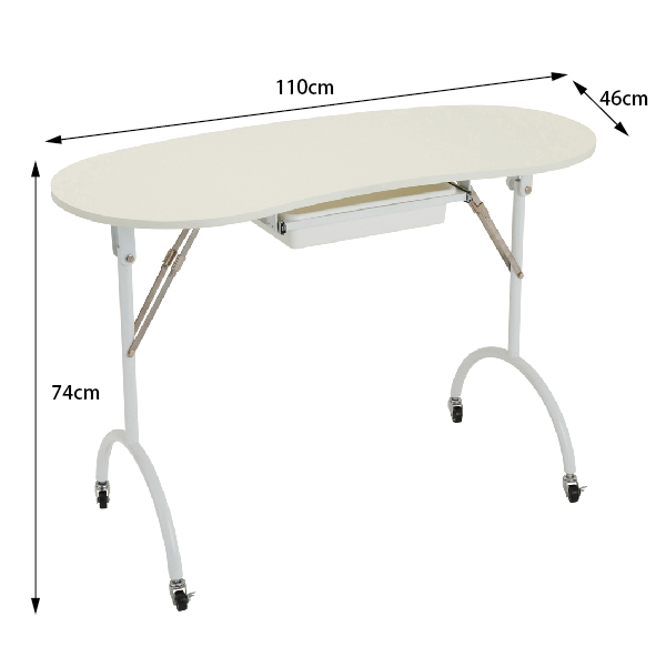 FV-2020 折り畳みネイルテーブル(キャスター付き)