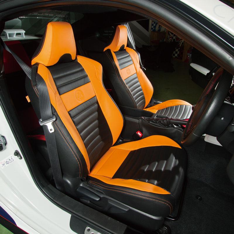86×CABANA+INGING シートカバー 【CABANA Racing】 オレンジ/ブラック