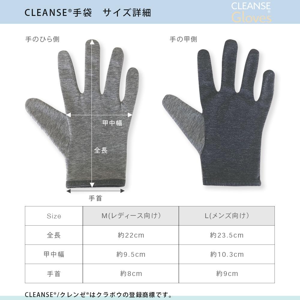 ■1週間以内発送■ 抗菌・抗ウイルス機能繊維加工技術『CLEANSE®』<クレンゼ手袋・男性用・女性用>セット販売・抗菌・洗える・日本製手袋・除菌・イータック・Etak・レディース・メンズ