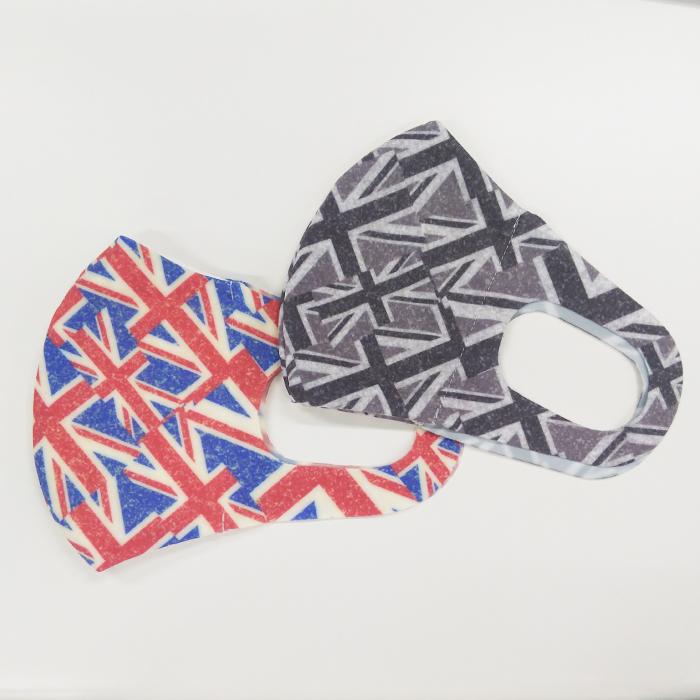 <UNIONJACK/レッド>抗菌・抗ウイルス機能繊維加工技術『CLEANSE®』MASK<クレンゼマスク>セット販売・抗菌・布マスク・洗えるマスク・日本製マスク・除菌・イータック・Etak