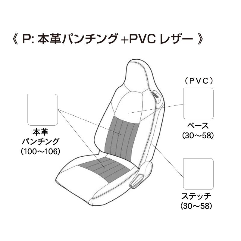 ROADSTER ND シートカバー TYPE P(本革パンチング&PVCレザー)【MAZDA】