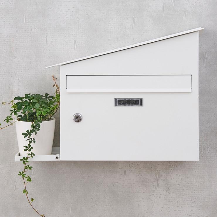 郵便ポスト 壁掛け ポスト郵便受け 壁付け  おしゃれ 北欧 植物台 観葉植物 A4 鍵付き