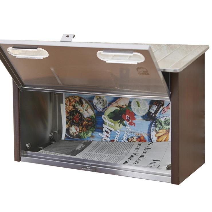 ポスト 郵便ポスト 郵便受け 壁掛け 壁付け A4 天然木ステンレス アンティーク メールボックス
