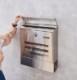 ポスト 郵便ポスト 壁掛け ステンレス A 大型 鍵付き 簡易ロック可 ポスト郵便受け A4