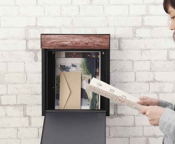 郵便受けポスト 郵便ポスト おしゃれ ポスト 郵便ポスト 壁掛け 壁付け A4 ハンドル