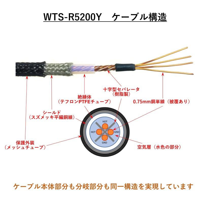 バイアンプ向け Y分岐RCAケーブル WTS-R5200Y