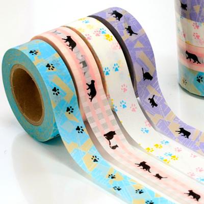 【ポストお届け可】Neko マスキングテープ 4巻セット とら/たま/くろ【マステ】