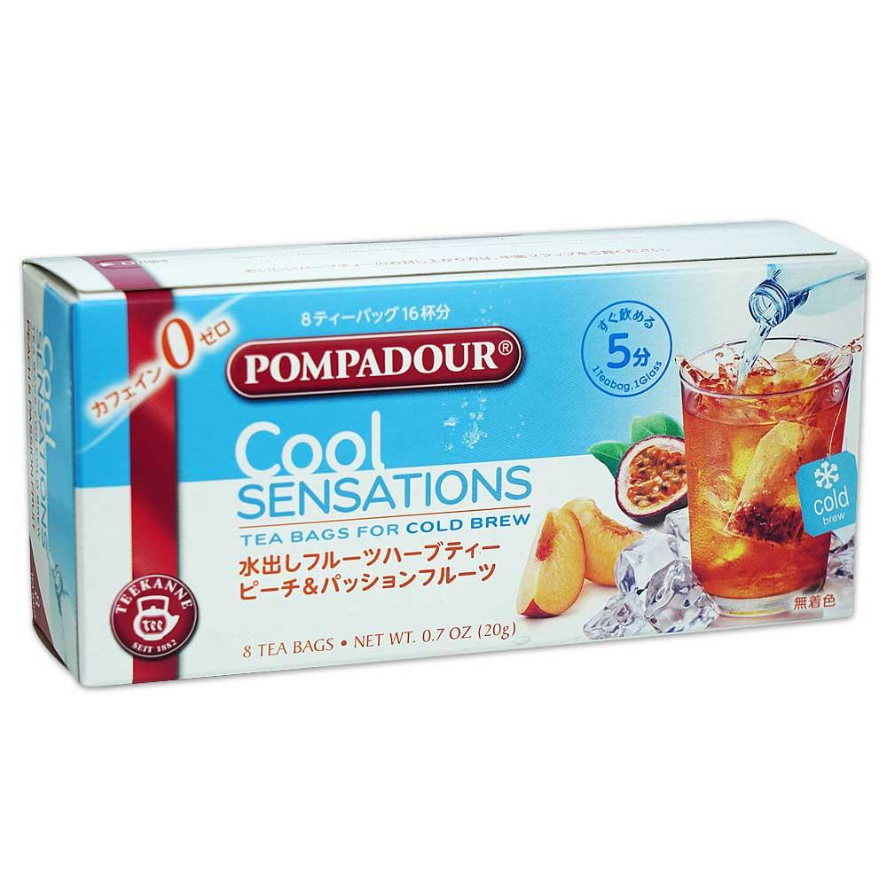 ポンパドール クールセンセーション ピーチ&パッションフルーツ 8ティーバッグ【coolsensations】