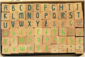 トランクスタンプ アルファベット Sサイズ