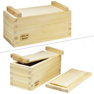 手作り石鹸用 木製モールド ミルクタイプ(ふた付)