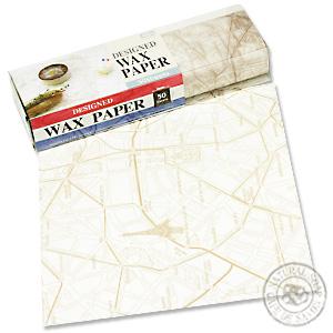 デザインワックスペーパー オールドパリマップ(ベージュ)(50枚入り)