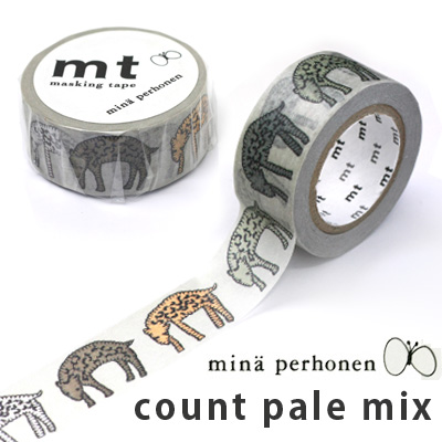 【ポストお届け可】マスキングテープ 『mt×mina perhonen count pale mix』【マステ】