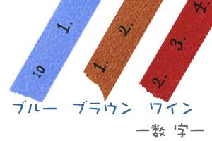 マスキングテープ 数字[CRAFT Log] 3色セット【ポストお届け可/6】【マステ】