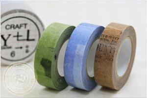 マスキングテープ コラージュ15mm[CRAFT Log] 3色セット【ポストお届け可/6】【マステ】