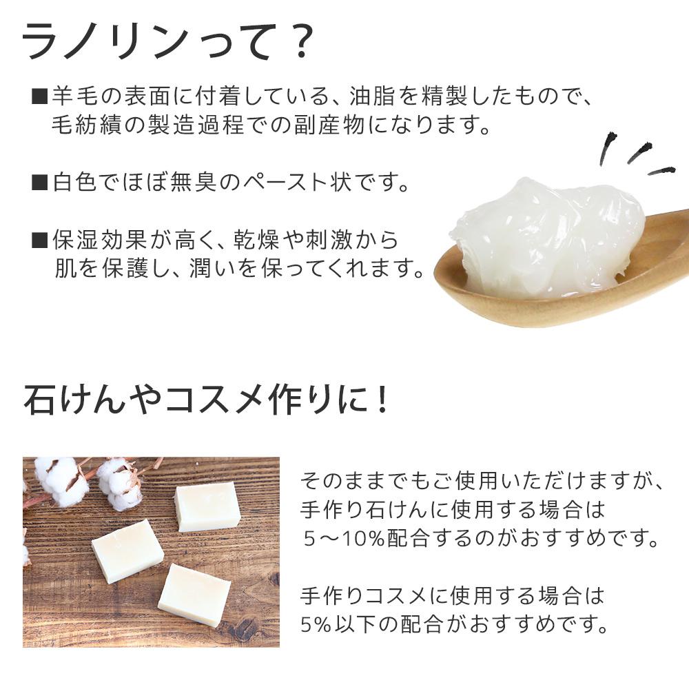 【ポストお届け可】 吸着精製ラノリン 50g 【手作り石けん/手作りコスメ/羊毛/保湿】