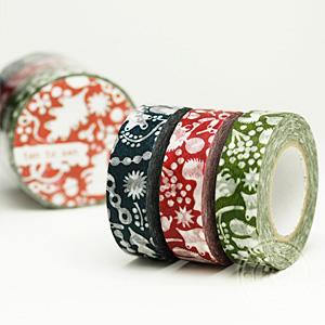 マスキングテープ リスの森 3色セット【ポストお届け可/6】【マステ】