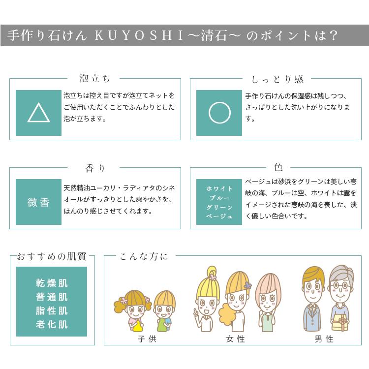 カフェ・ド・サボン 天然手作り石けん KUYOSHI〜清石〜[選べるおまけ付き]