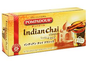 ポンパドール インディアンチャイ クラシック 10ティーバッグ(ホット20杯分)