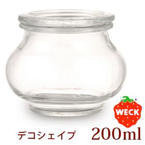 WECK【ウェック】 デコシェイプ 200ml/DECO SHAPE WE-902
