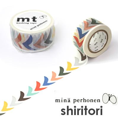 マスキングテープ 『mt×mina perhonen bird petit mix ミナペルホネン マスキングテープ バードプチミックス 』27mm  【mt/鳥/ミナペルホネン】【マステ】