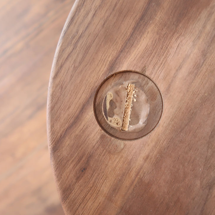カンターチェア【椅子 ダイニング チェア 1脚 ウォールナット ウォールナット材 北欧 ナチュラル おしゃれ シンプル 自然 天然 日本製 国産 頑丈 レトロ 家具 高級】幅45cm×奥行き42cm×高さ61cm
