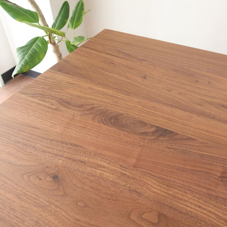 幅160cm×奥行85cm ダイニングテーブル 無垢材 ウォールナット ウォールナット材 ダイニングテーブル 3人家族 4人家族 高級