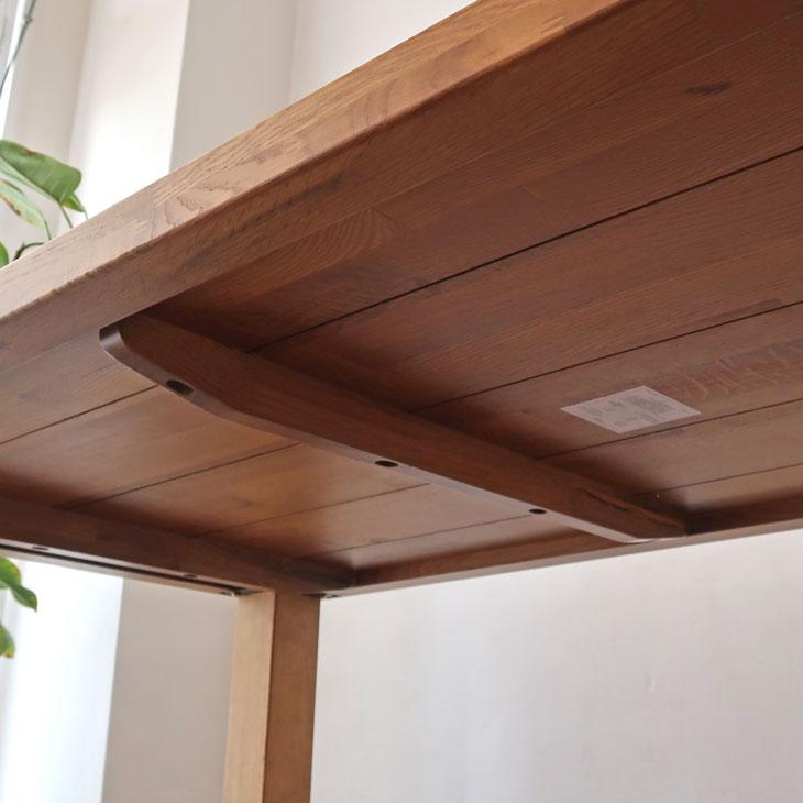 ベンチ付き オーク材 ダイニング4点セット 幅150cm モザイク天板 天板厚い シンプルなデザイン モダン レザーシート 水拭き ナラ材