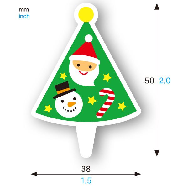 ケーキピック (クリスマスツリー) 20枚入 XG350-20