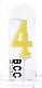 ナンバーキャンドル 4 (パステル) 1本入 KM04-1