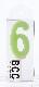 ナンバーキャンドル 6 (パステル) 1本入 KM06-1