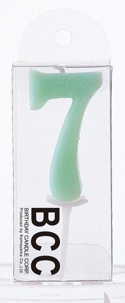 ナンバーキャンドル 7 (パステル) 1本入 KM07-1