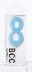 ナンバーキャンドル 8 (パステル) 1本入 KM08-1