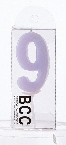 ナンバーキャンドル 9 (パステル) 1本入 KM09-1