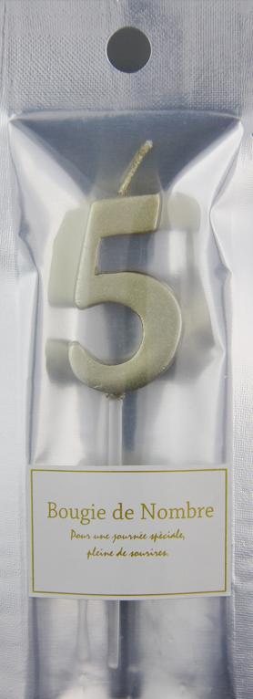 ナンバーキャンドル 5 (ゴールド) 1本入 MTGL05-1