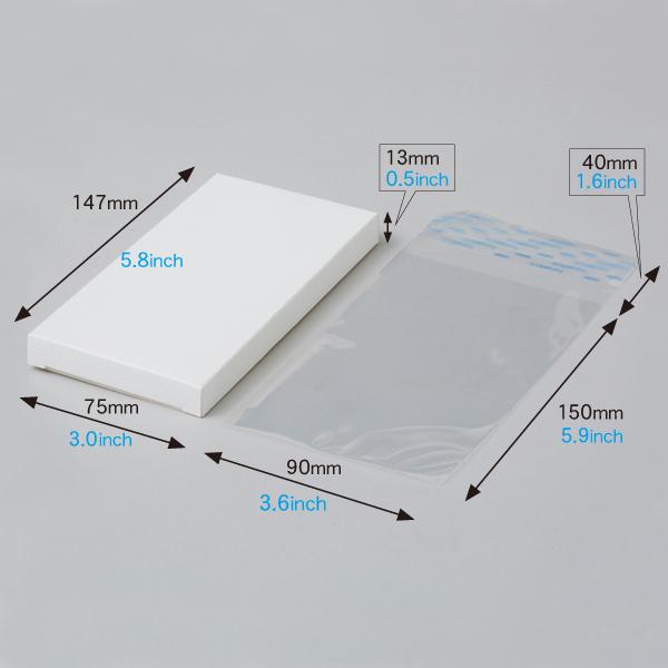 PETタブレット/モールド専用ボックス(白) 各50枚入 OPP袋付き AP70140Kset-50