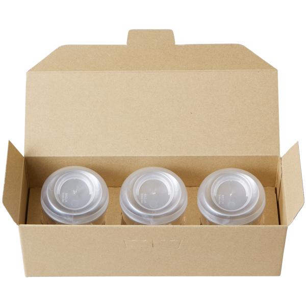 クラフト ギフトボックス 3個用(クラフト) 25枚入 チルド デザートカップ 対応 KS5100-25