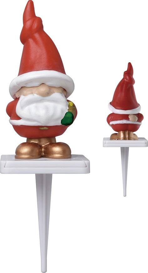 【クリスマス】 ケーキピック (セパレートサンタ) 2個入 プラスチック YK46-2