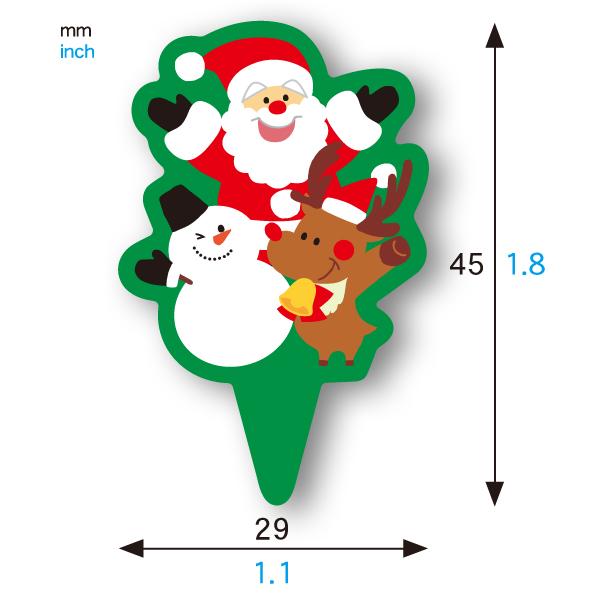 ケーキピック (サンタファミリー) 20枚入 XG313-20