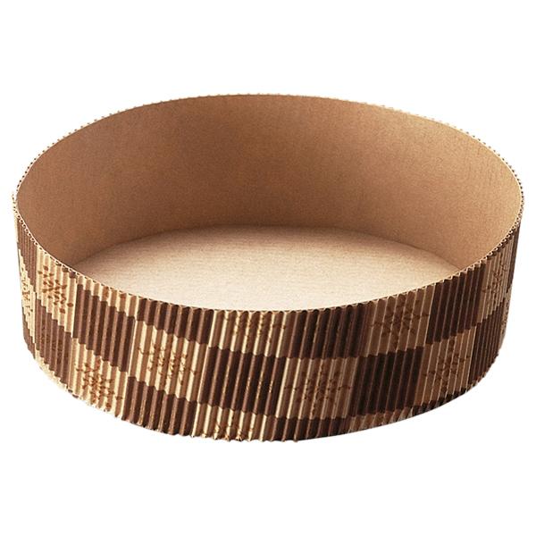 ソフト ベーキングカップ 15cm (茶ブロック) 10枚入 SC861-10