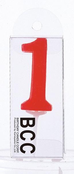 ナンバーキャンドル 1 (パステル) 1本入 KM01-1