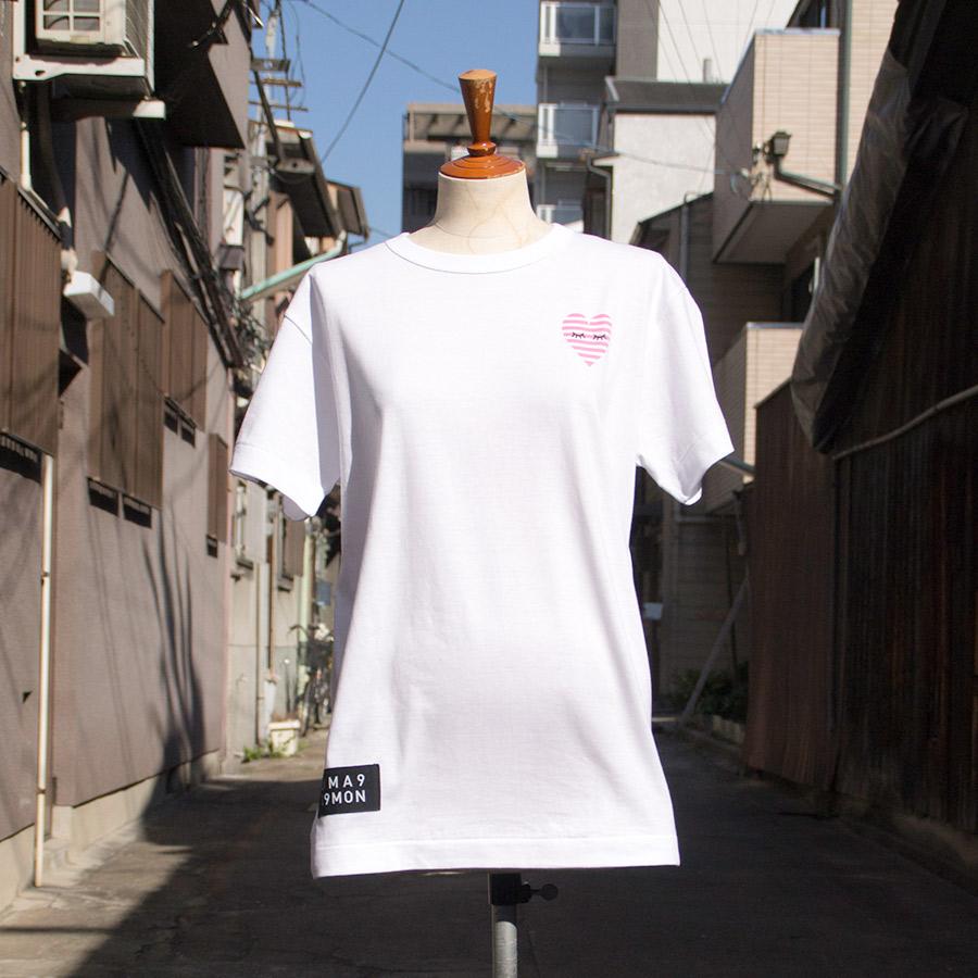 Tシャツ ユニセックス うまくいく紋<[恋愛成就]の神様・ホワイト> 【クリックポスト:容量80】