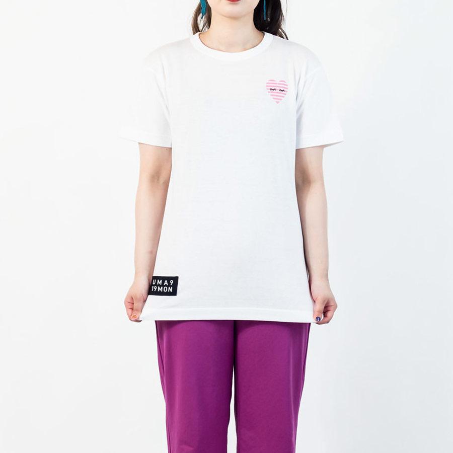 Tシャツ ユニセックス うまくいく紋<[恋愛成就]の神様・ホワイト> 【クリックポスト:容量80】【45%OFF】