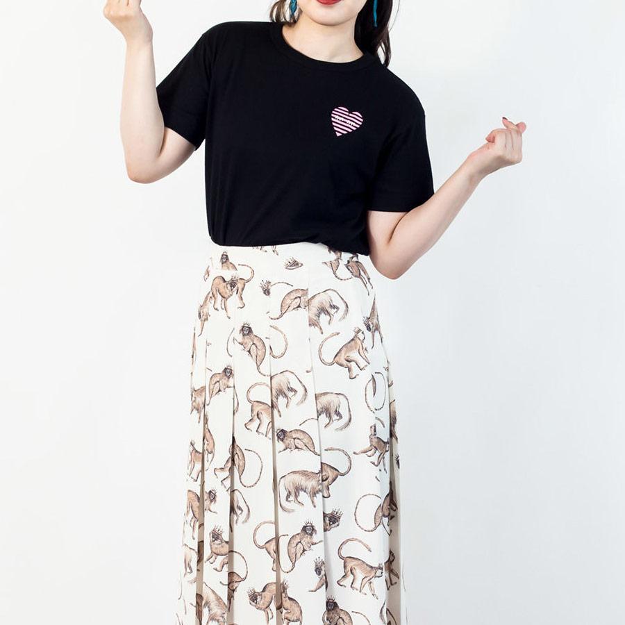 Tシャツ ユニセックス うまくいく紋<[恋愛成就]の神様・ブラック> 【クリックポスト:容量80】
