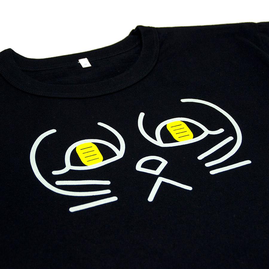 Tシャツ ユニセックス うまくいく紋<[金運招福]の神様・ブラック> 【クリックポスト:容量80】