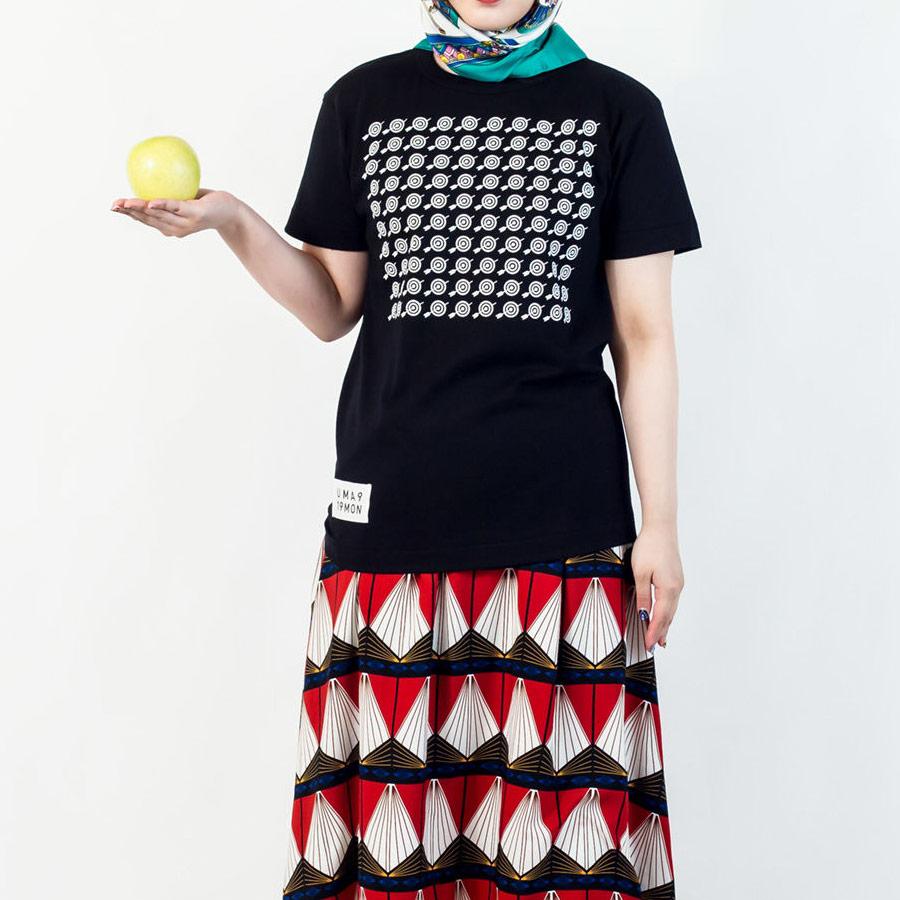 Tシャツ ユニセックス うまくいく紋<[必勝祈願]の神様・ブラック> 【クリックポスト:容量80】【45%OFF】