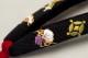 鼻緒単品 「菱屋製・刺繍<宝尽くし・黒>」 レディース No.015