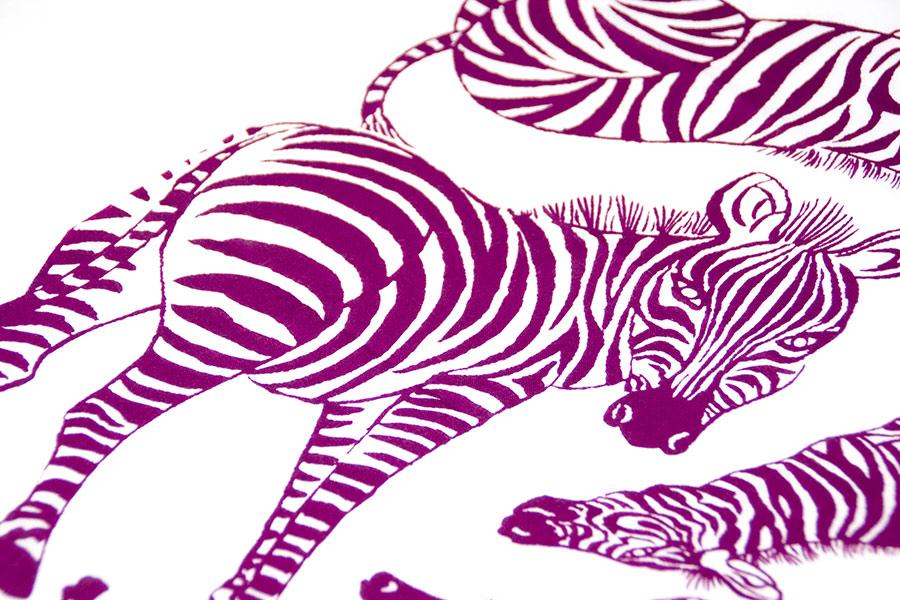 手ぬぐい 手捺染<うまくいく紋・白紫> 【クリックポスト:容量20】
