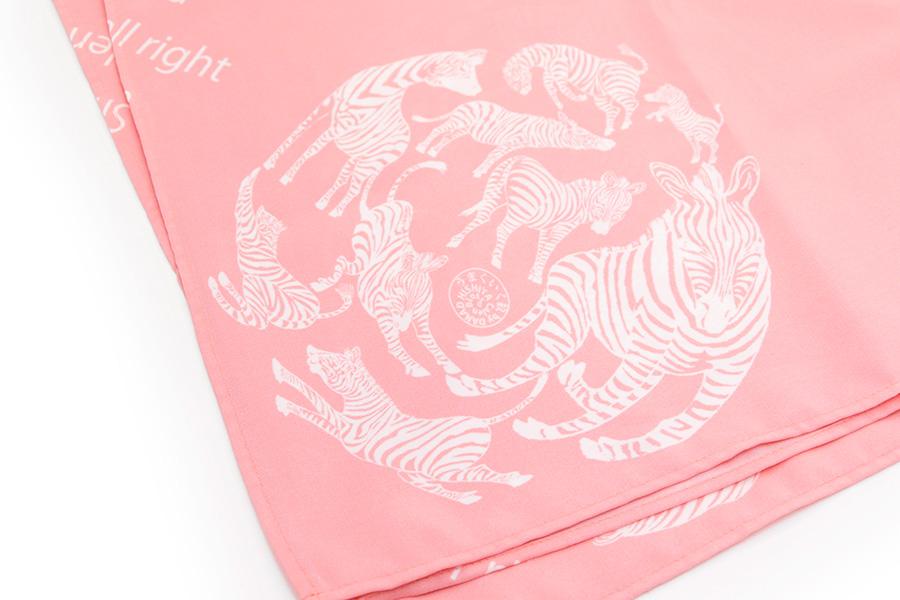 超撥水風呂敷『ながれ』<うまくいく紋・白桃> 96×96cm  【クリックポスト:容量80】