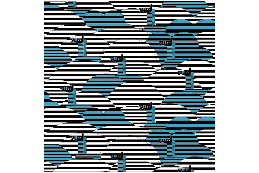 超撥水風呂敷『ながれ』<うまくいく紋[家庭円満]の神様> 96×96cm 【クリックポスト:容量80】