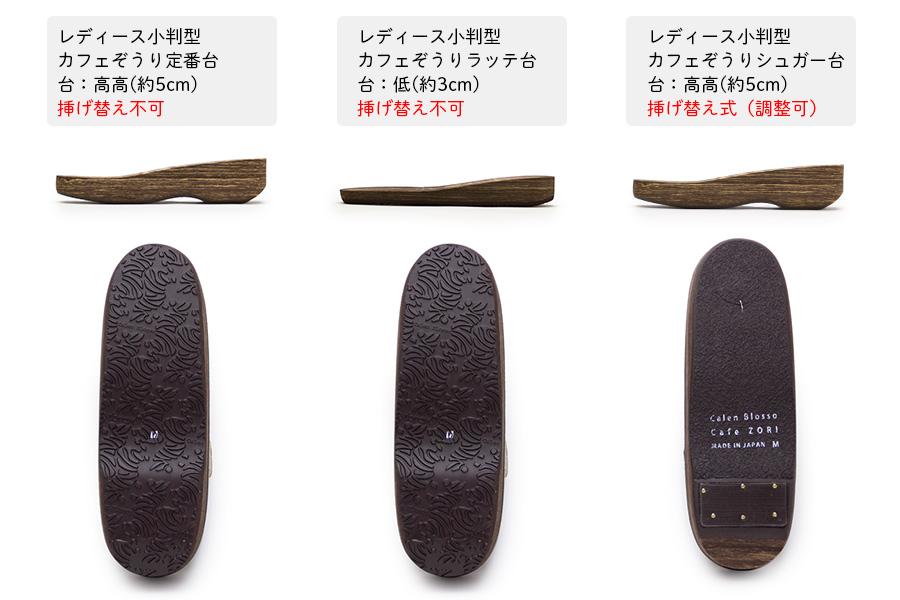 鼻緒単品 「菱屋製・帯地<金地に中レール>」 レディース No.017